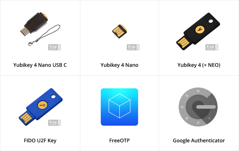 Some of the popular applications and hardware MFAStack supports